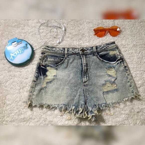 Sneak Peek Pants - 💖4 for $20💖 Acid Wash High Wasted Jean Shorts